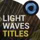 Light Waves Titles  l  Waves Line Titles  l  Particles Titles - VideoHive Item for Sale