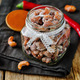Honey red pepper roasted cashews in a glass - PhotoDune Item for Sale