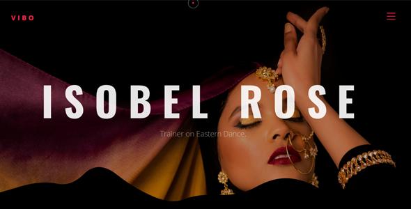 Vibo - Creative Dance & Portfolio Showcase Template