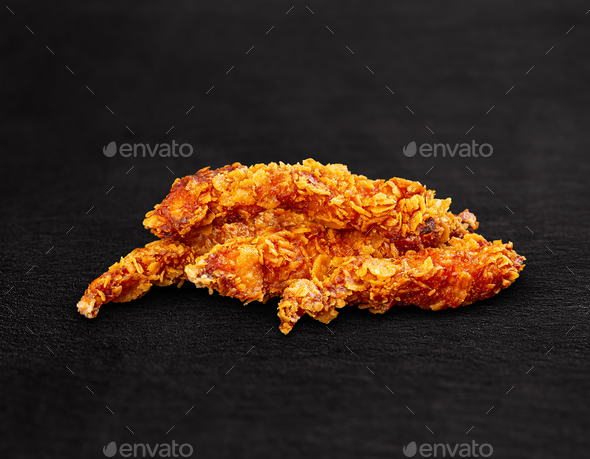 Crispy fried chicken breast - Stock Photo - Images