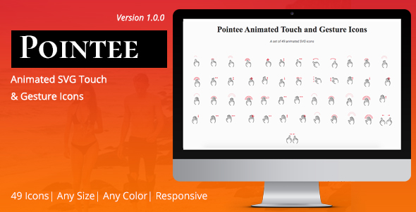 Download codecanyon Pointee Animated Touch and Gesture Icons