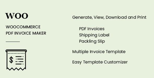 WooCommerce PDF Invoice Maker