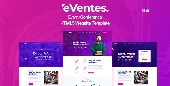 Eventes - Conference and Event HTML Template