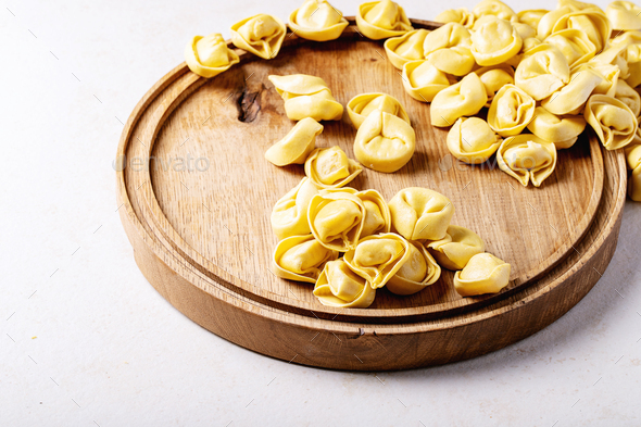 Raw traditional Itallian ravioli - Stock Photo - Images