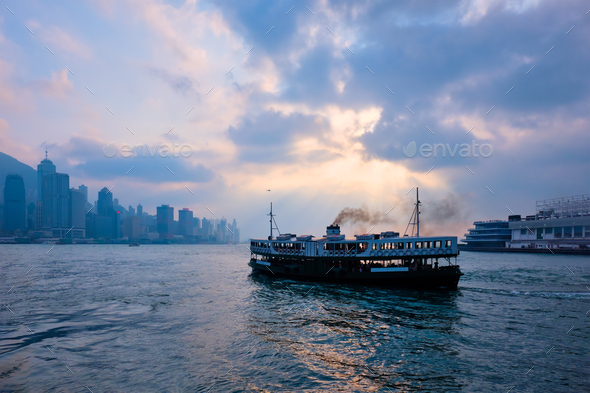Hong Kong skyline. Hong Kong, China - Stock Photo - Images