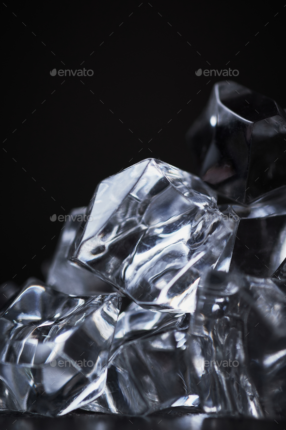 Close-up view of the crystal cubes - Stock Photo - Images