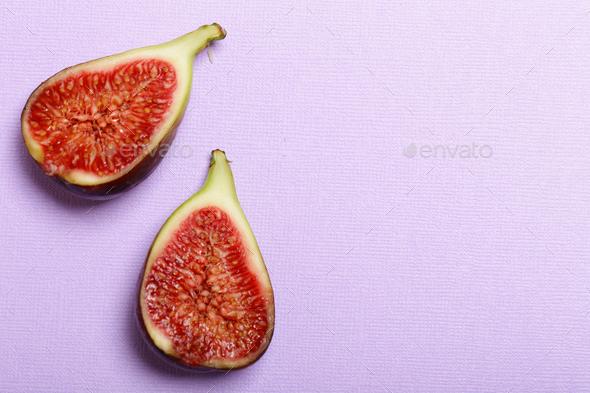 Organic Purple Figs - Stock Photo - Images