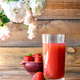 Glass of strawberry juice - PhotoDune Item for Sale
