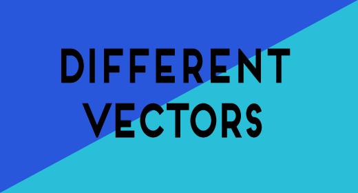 Different vectors