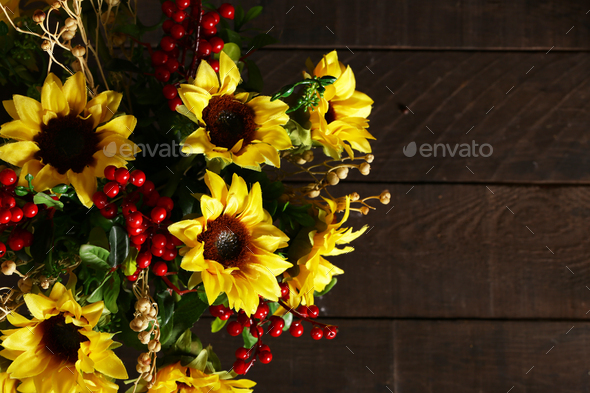 Autumn Bouquet of Flowers - Stock Photo - Images
