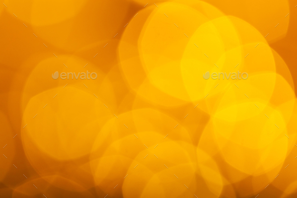 Abstract Orange Bokeh With Blurred Background