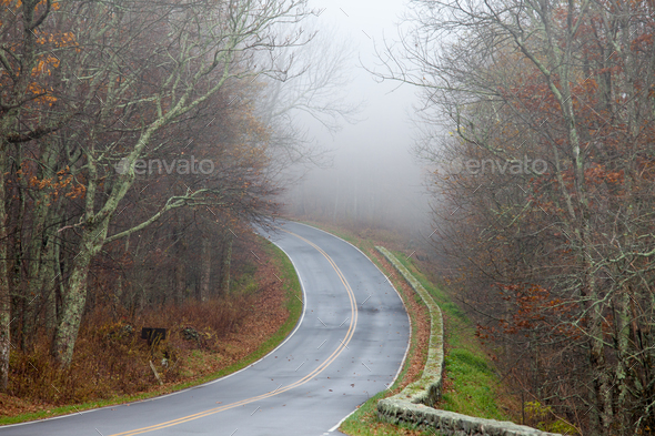 Skyland Drive Blue Ridge Shenandoah NP Virginia US - Stock Photo - Images