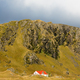 Farm house at base of rock cliff East iceland - PhotoDune Item for Sale