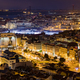 Nightfall in center of Old Town Lisbon Portugal EU - PhotoDune Item for Sale