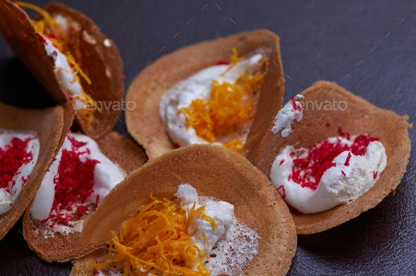 The colorful Thai Crispy Pancake - Stock Photo - Images