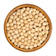 Dried chickpeas in wooden bowl over white - PhotoDune Item for Sale