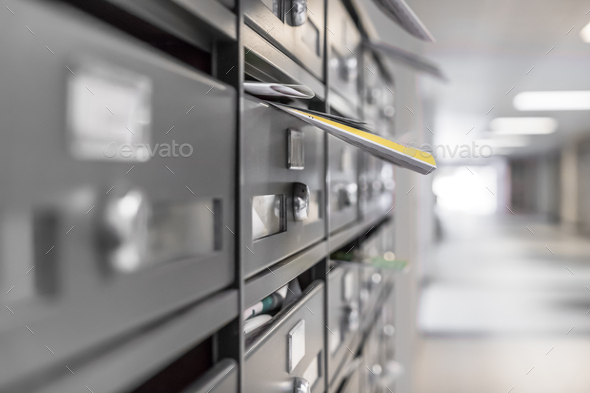Mailboxes filled - Stock Photo - Images