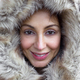Young woman wearing furry hood - PhotoDune Item for Sale