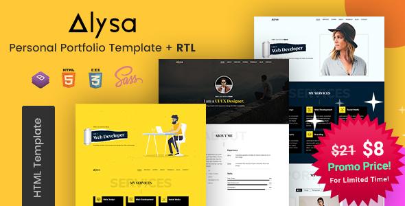Alysa - Personal Portfolio HTML Templates
