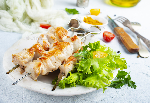 chicken kebab - Stock Photo - Images