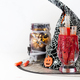 Halloween bloody glass with test tubes of tomato juice and Jar filled with orange string lights - PhotoDune Item for Sale