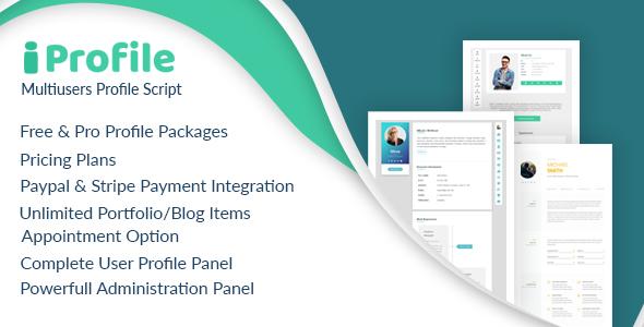 iProfile - Multiuser Profile & Resume Script (SASS)