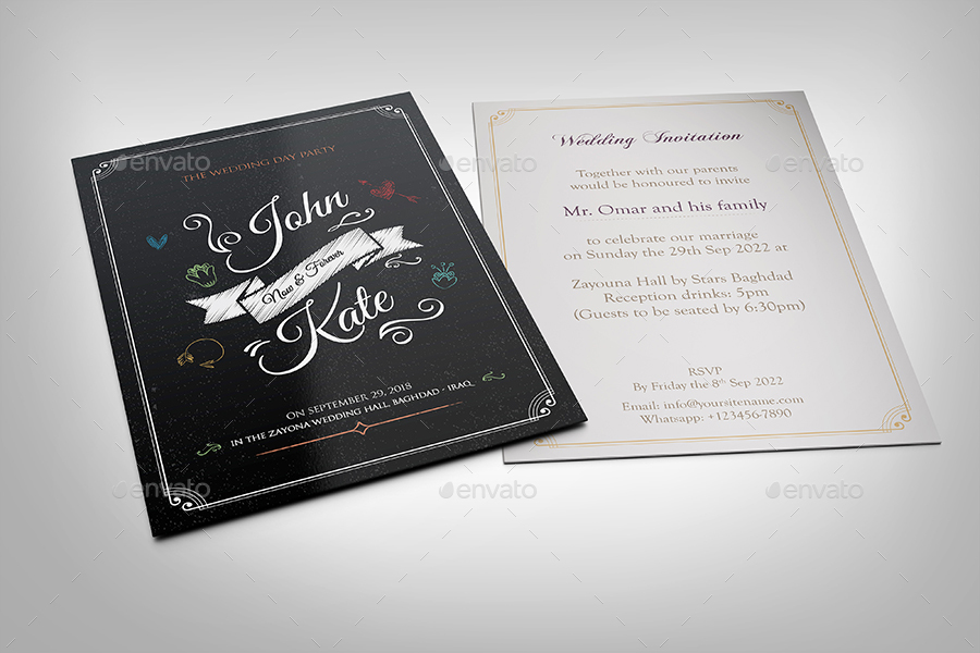 Wedding Invitation Card Template Vol 20