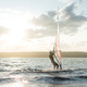 Morning windsurfing on the lake sunrise, - PhotoDune Item for Sale