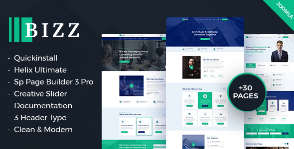 Bizz - Business Consulting and Agency for Joomla template