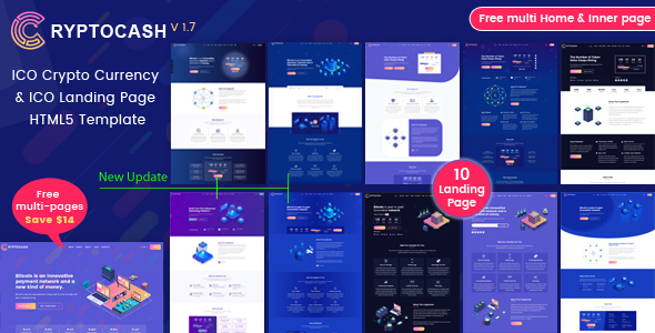 ICO Cryptocash – ICO Crypto Currency & ICO Landing Page HTML5 Template by anil_z
