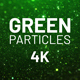 Green Particles Background 4K - VideoHive Item for Sale