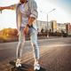 Young caucasian man, modern shot in film grain effect - PhotoDune Item for Sale
