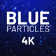Blue Particles Background 4K - VideoHive Item for Sale