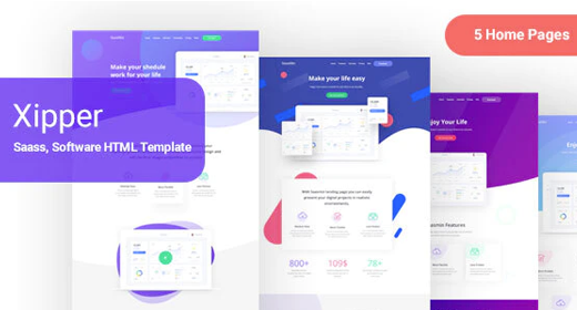 Landing Page Template for App & Saas Products