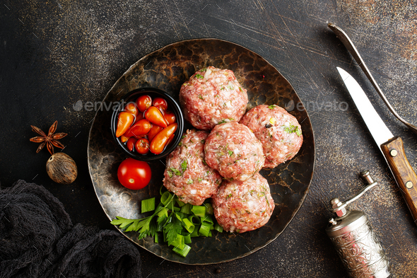 raw cutlets - Stock Photo - Images