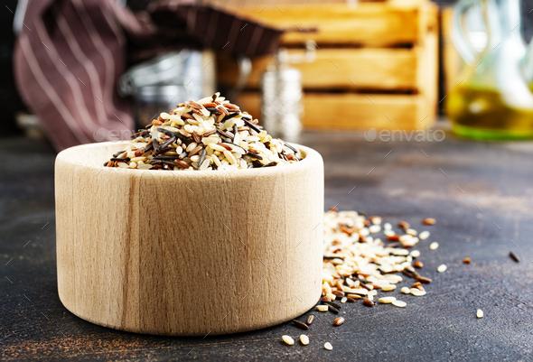 raw rice - Stock Photo - Images