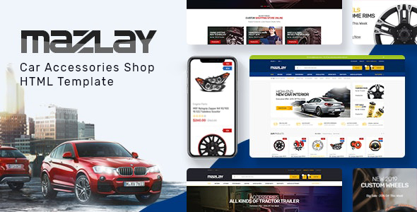 Mazlay - Car Accessories Shop HTML Template by HasTech