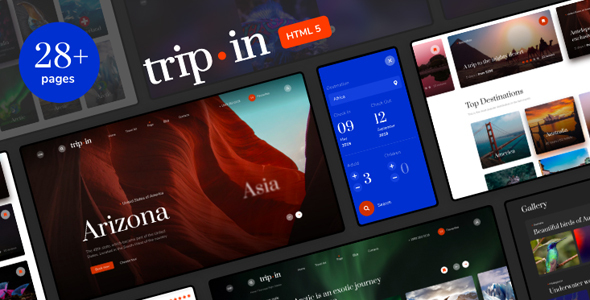 Tripin | Tour & Travel Agency Template by helloDigi