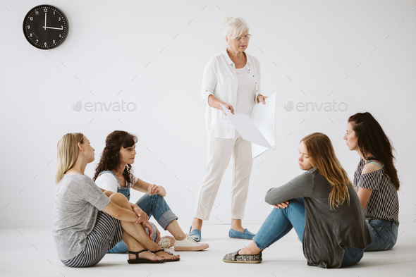 Teenagers at the therapy - Stock Photo - Images