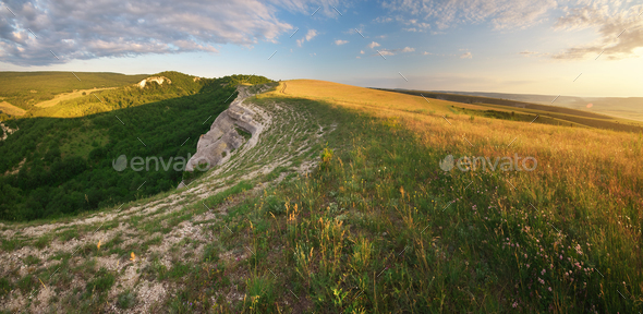 Mountain panorama landscape. - Stock Photo - Images