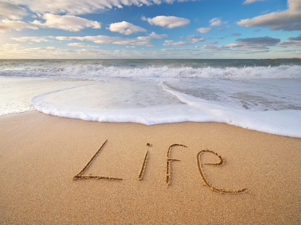 Life word on the sea - Stock Photo - Images