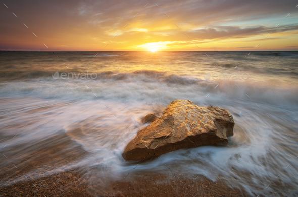 Beautiful nature seascape. - Stock Photo - Images