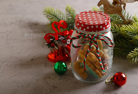 Christmas Gingerbread Cookie - Stock Photo - Images