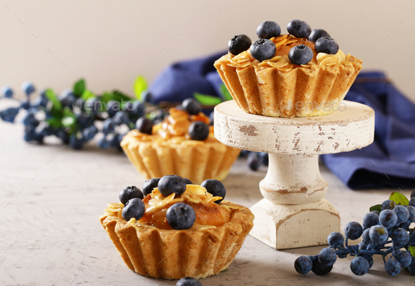 Shortcrust Tartlets with Almonds - Stock Photo - Images