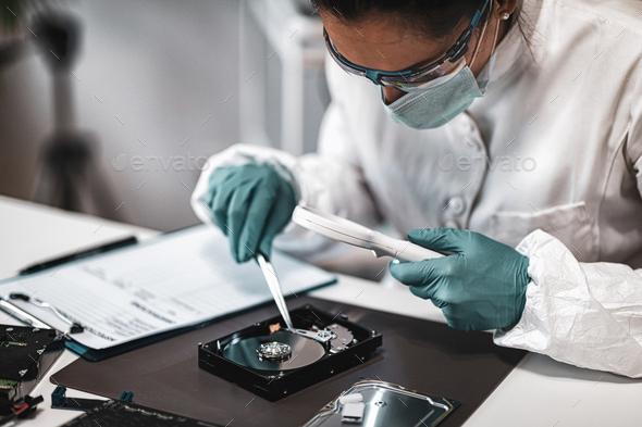 Forensic Data Laboratory Analysis - Stock Photo - Images