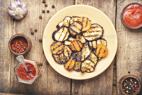 Grilled vegetables mix - Stock Photo - Images