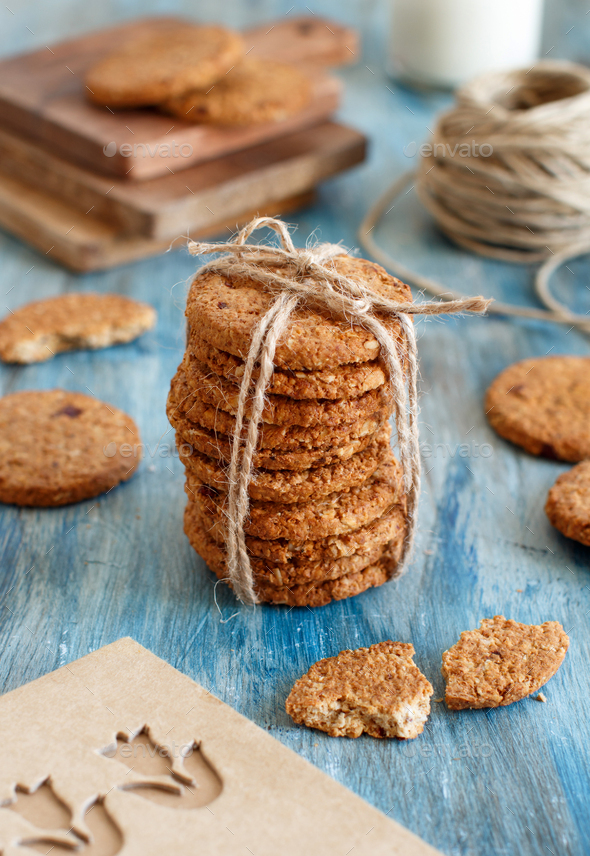 Homemade oatmeal cookies - Stock Photo - Images