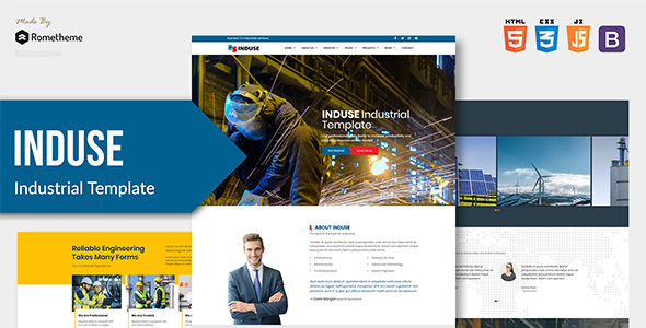 INDUSE - Industrial Services HTML Template by Rometheme