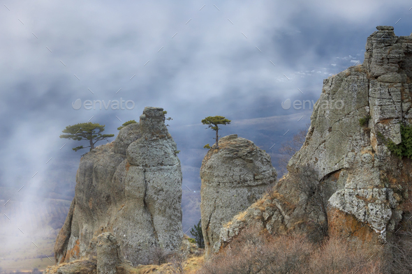 Mysty mountains - Stock Photo - Images