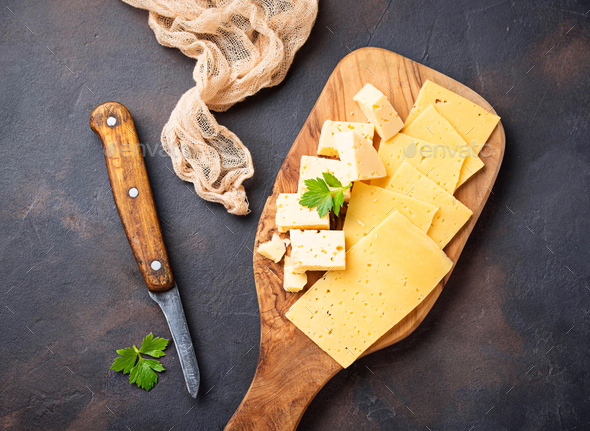 Various type of sliced cheese - Stock Photo - Images